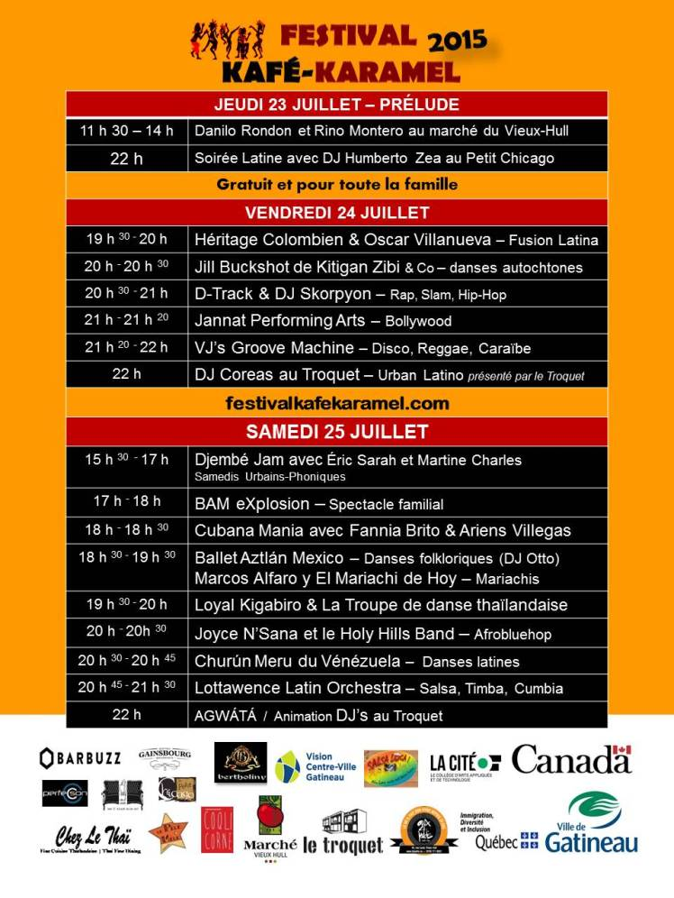 Kafekaramel  2015 - Programmation- version 22 juillet-2