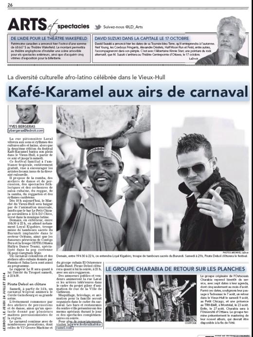 Revue Media Kafe-Karamel 2014 LE DROIT